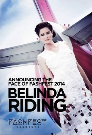 Belinda Riding 'Face of FASHFEST 2014' wears Karen Lee - photo by Leighton Hutchinson for FASHFEST