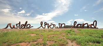 Wide Brown Land Sculpture (words from the poem My Country by Dorothea McKellar)
