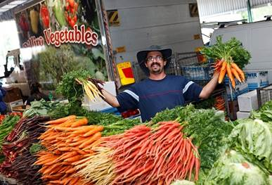 The freshest of fresh at the Market - photo courtesy threesides.com.au