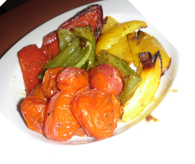 Roast capsicum and Roma tomatoes with Italian herbs and spices
