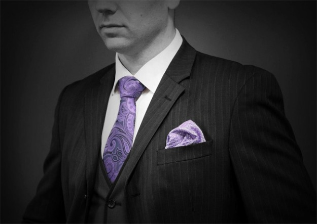 Tie and pocket square set by Christian James