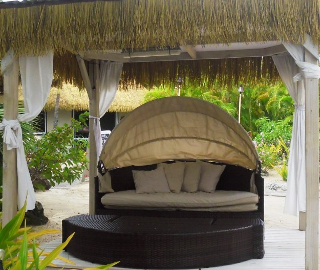 Just-for-two pod at Crown Beach Resort
