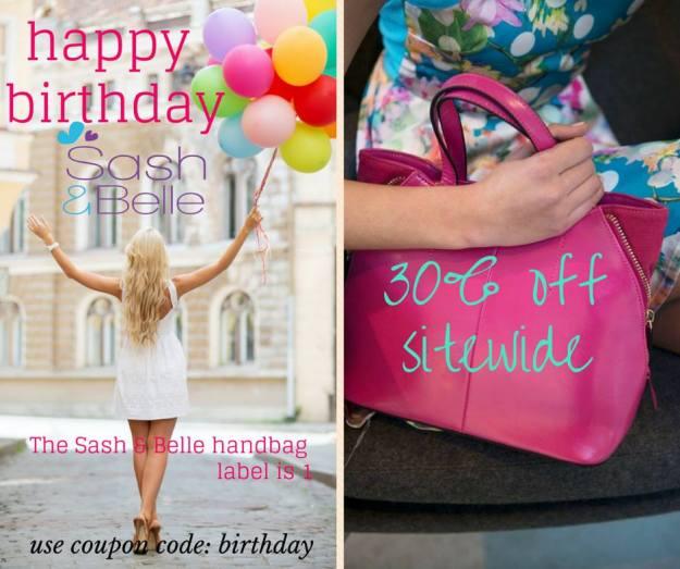 www.sash-belle.com.au - birthday sale!