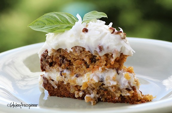 GF Dreamy Carrot Cake from glutenfreespinner