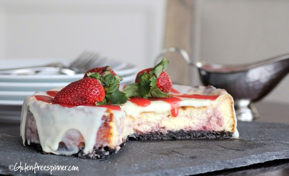 GF Strawberry cheesecake glutenfreespinner