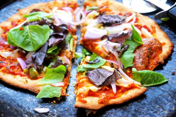 Super healthy pizza - just add your favourite toppings