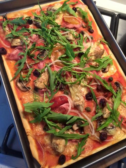 FEEDinc super-healthy, make it from scratch pizza! Recipe and photo courtesy FEEDinc