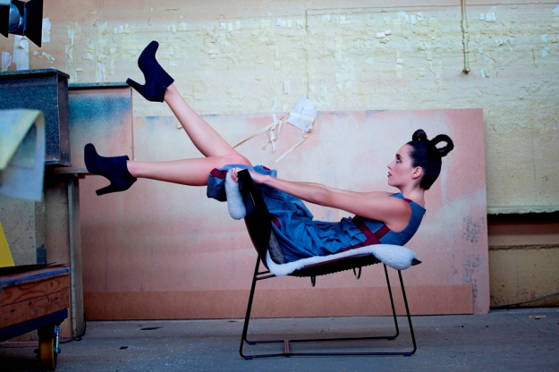 Scaffold dress and Walter Knoll chair