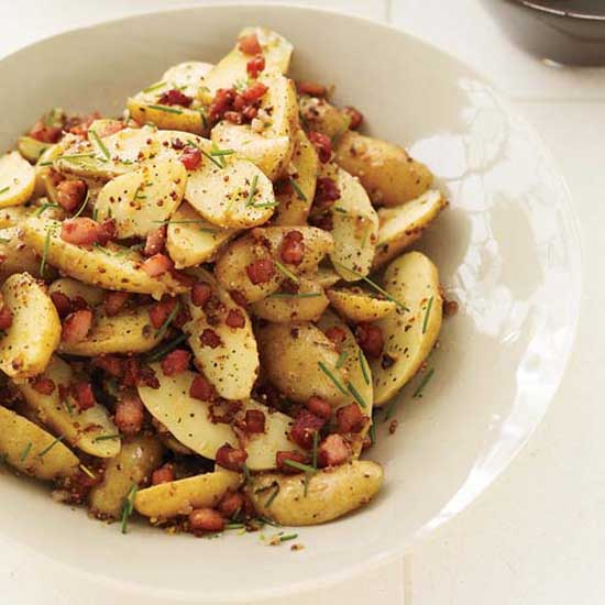Warm potato salad with pancetta from http://www.foodandwine.com/recipes