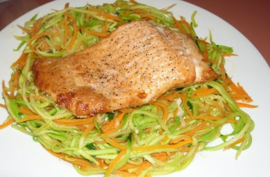 Asian salmon with zoodles