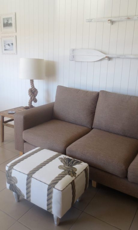 Gorgeous rope design ottoman - perfect for the beach house