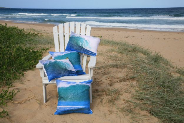 Gorgeous seascape cushions