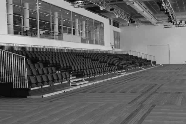 Getting the seating installed in the National Convention Centre