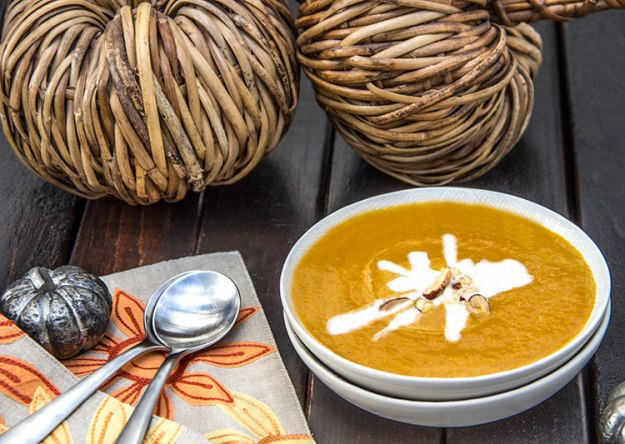 Creamy curry pumpkin soup