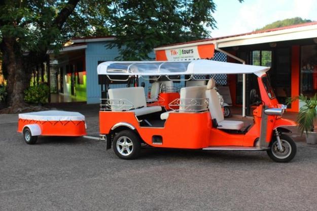 Tuk-tuk and trailer - photo courtesy Tik-e tours