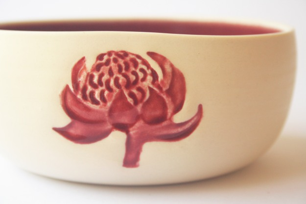 Beautiful Waratah bowl by Denise McDonald