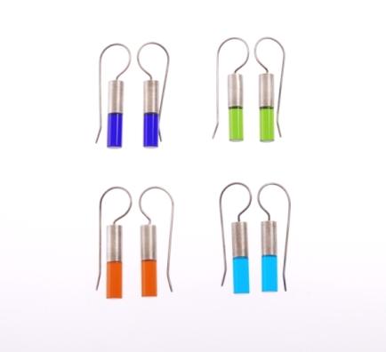 Capsule ear-rings by Blanche Tilden