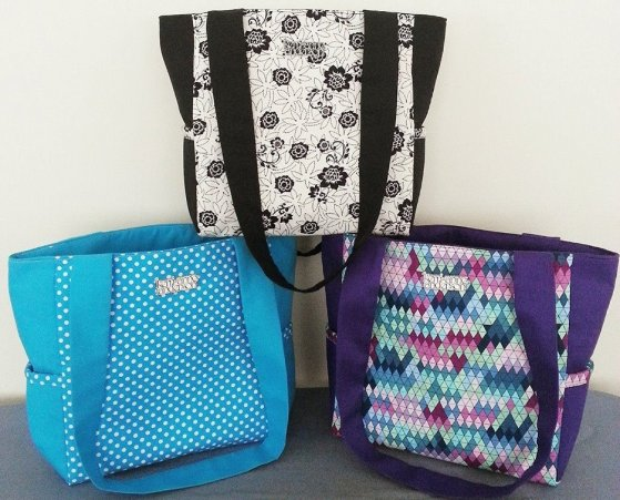 Kerri-Anne totes will fit your tablet, iPad or Kindle with room to spare
