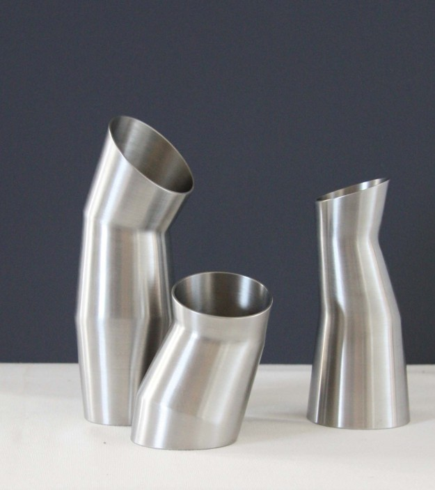 Stainless steel pourers - photo by Alison Jackson