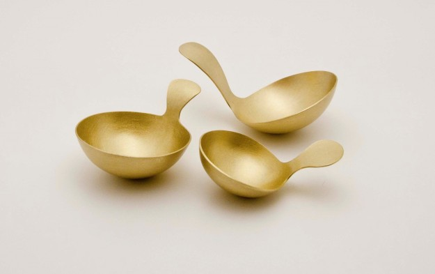 Brass scoops by Alison Jackson photo by Christine Pobke
