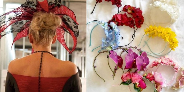 Amazing headwear from BM Designs, and floral bands from PeonynPearl
