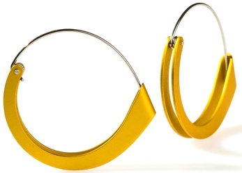 Living Artist_ANCA—Folded earring by Phoebe Porter; image courtesy designer
