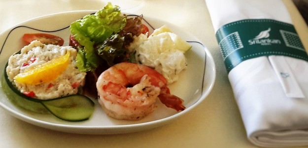 Sri Lanka Air seafood salad light meal