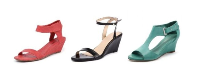 L-R: Wedge sandals by I Love Billy, Missano, Top End