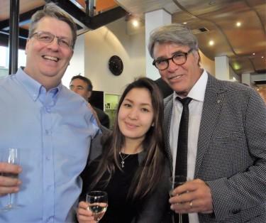 Emilio Cataldo (r) with guests