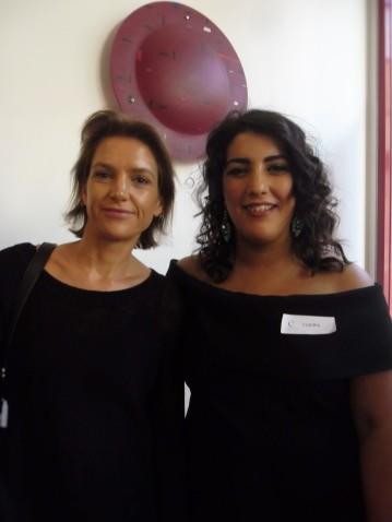 LFW's Emma with Claudia Cataldo