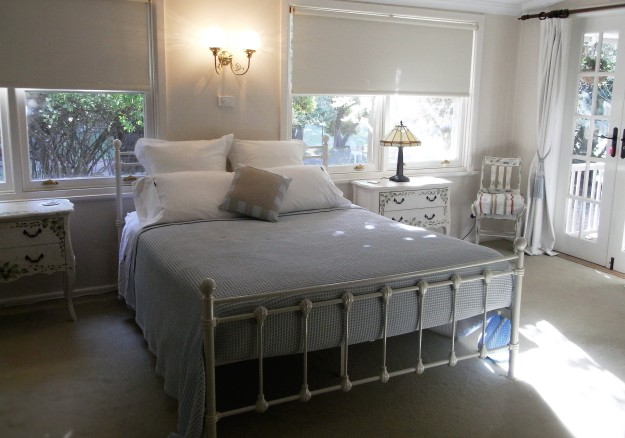 Garden Wing bedroom with French doors to verandah