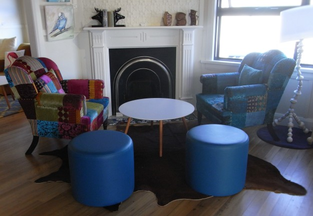 Enjoy a coffee in the cafe corner complete with retro furniture