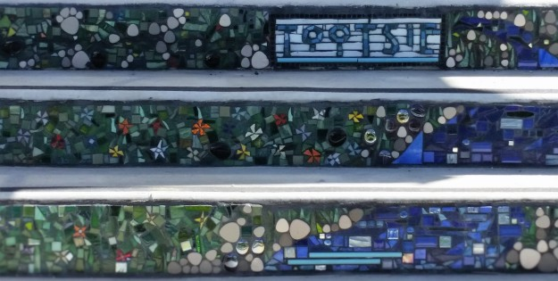 Mosaic Community Art Project - garden steps