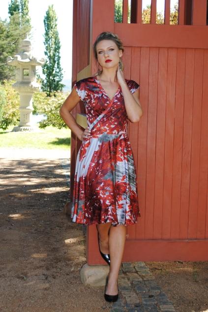Vivid cross-front dress