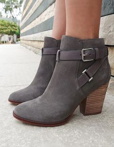 Cute ankle boots with buckle detail
