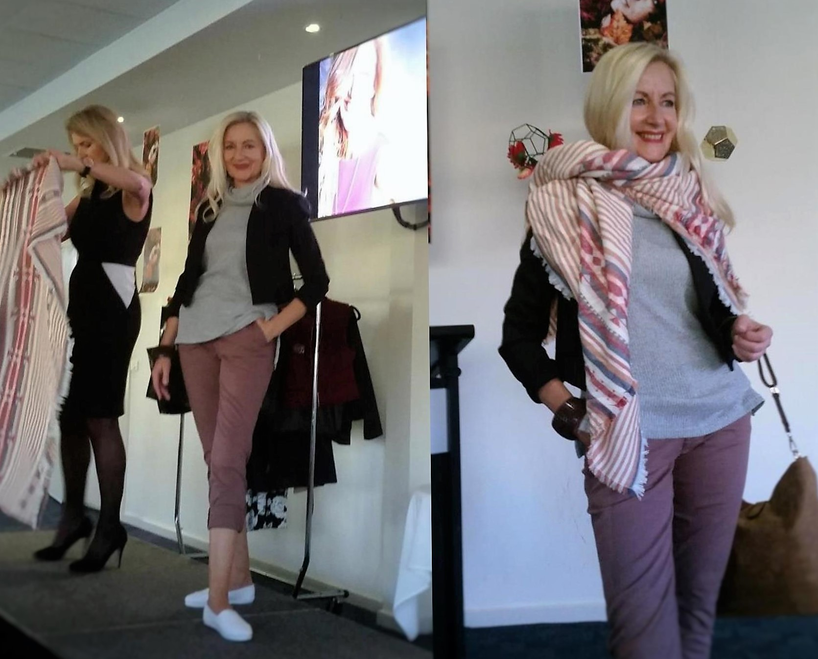how to wear a blanket scarf as a shawl