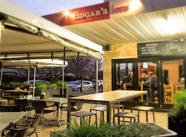 Outdoor seating - image Edgar's