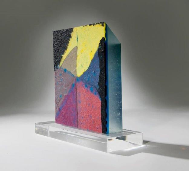In the presence of one's home. Judi Elliott. Glass. H 30 cm. x W 18cm. 2014. Image credit: Rob Little. Never been shown in Canberra.