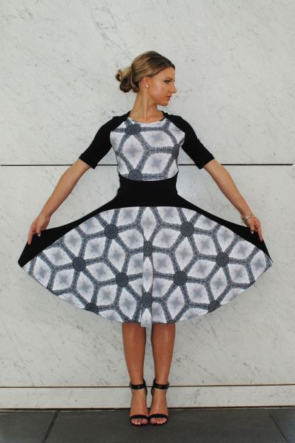 Parliament Kaleidoscope print panel dress