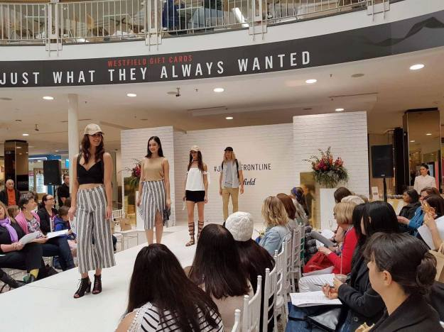 On the catwalk at Westfield, image from Victoria's Models