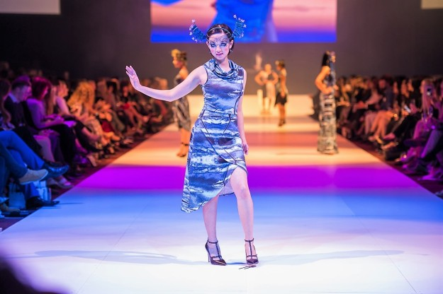 Zilpah tart on the catwalk at FASHFEST 2016 - photo by Andrew Donato