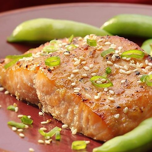 baked-salmon-with-miso-glaze-and-snow-peas