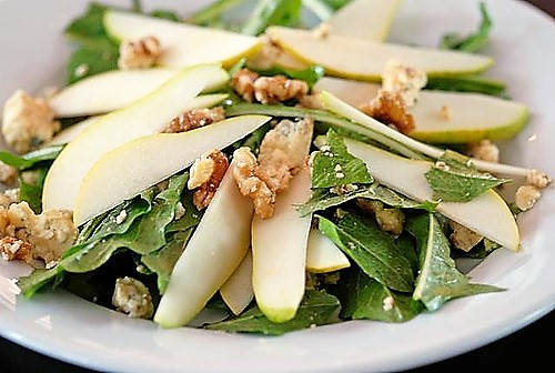 salade-verte-with-pear
