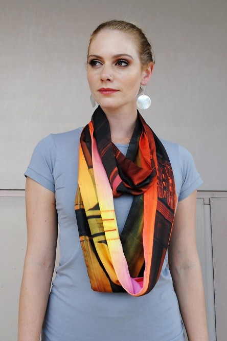 ZT_Loop Scarf in Coloured Light print 1