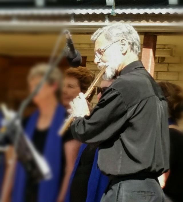 Paul Herbert on flute