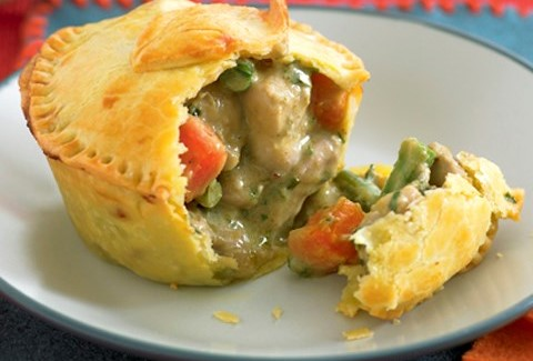 Thai chick and green curry pie